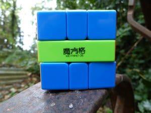 Le QiYi Square One, qui présente de belles couleurs pour cette version Stickerless et du contraste !
