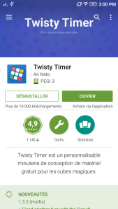 Twity timer Rubik's cube Timer
