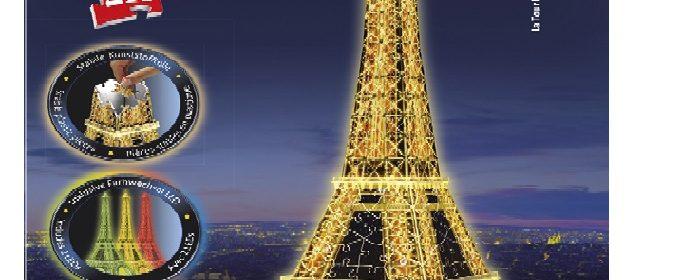 Le puzzle 3D Ravensburger Tour Eiffel De Nuit : test et avis