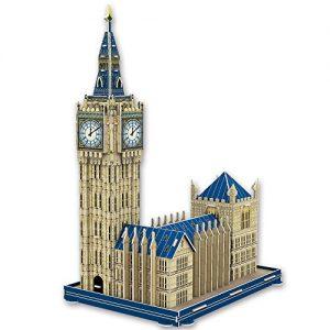 puzzle 3D pour enfant NimNik-Puzzle 3D Big Ben pour Enfants 3D