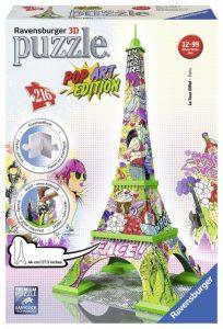 puzzle 3D de monuments-Ravensburger tour Eiffel pop art