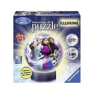 puzzle 3D lumineux Ravensburger - 12183 - Puzzle 3D - Reine des Neiges Illuminé