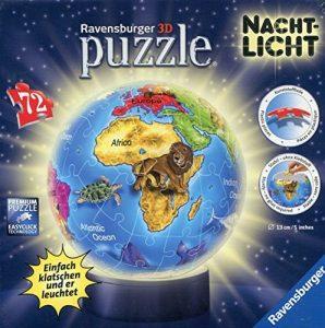 puzzle 3D lumineux Ravensburger - 12184 -Globe Illuminé