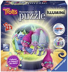 puzzle 3D lumineux trolls
