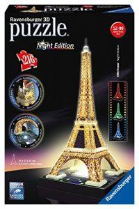 puzzle 3D pas cher Ravensburger - 12579 - Tour Eiffel De Nuit