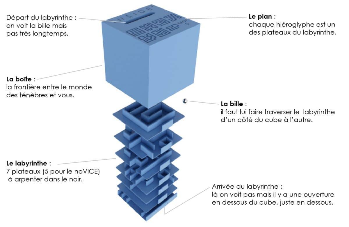 Labyrinthe 3D cube