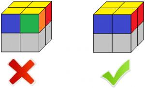 comment resoudre un cube 2x2 premiere face correcte